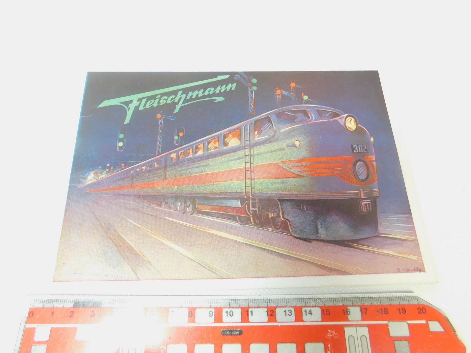 Bp432-0, 5  Fleischmann traccia 0 catalogo 1951  movimento dell'orologio-Ferrovie etc, molto bene