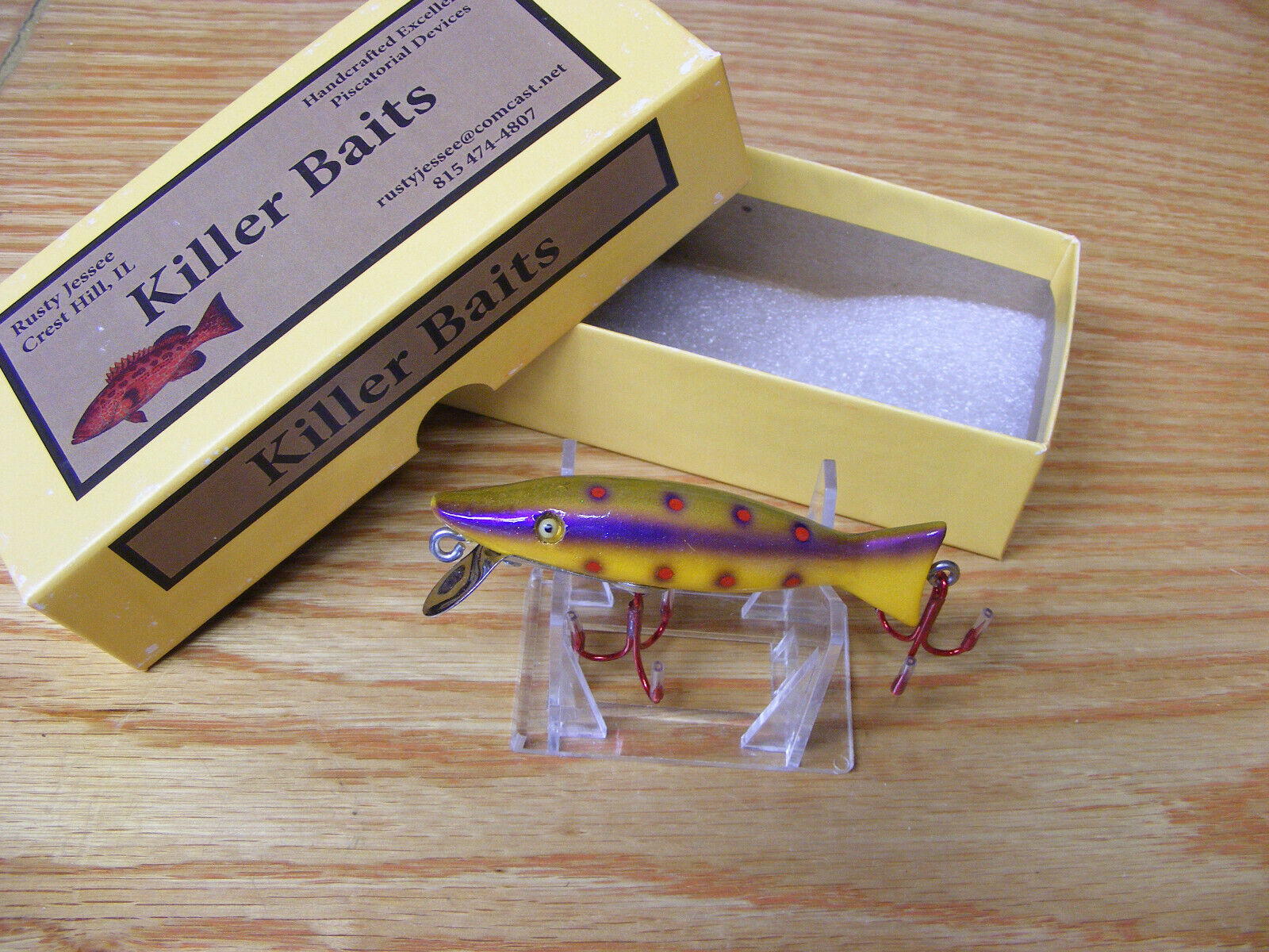 Killer Baits Rusty Jessee Paw Paw Style Glasseye Caster Purple  Pearl Spot color  team promotions