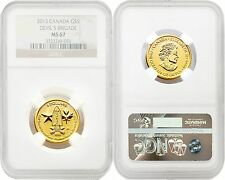 Canada 2013 Devil's Brigade $5 1/4 oz Gold NGC MS67 SKU#4165