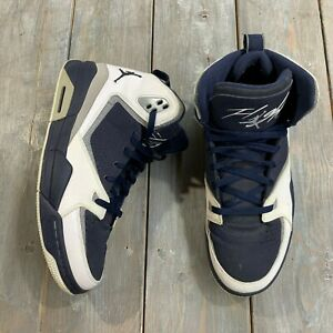 Details about Nike Mens 454050-402 Air Jordan SC 2 Flight Navy Blue White Sneakers Adult 12