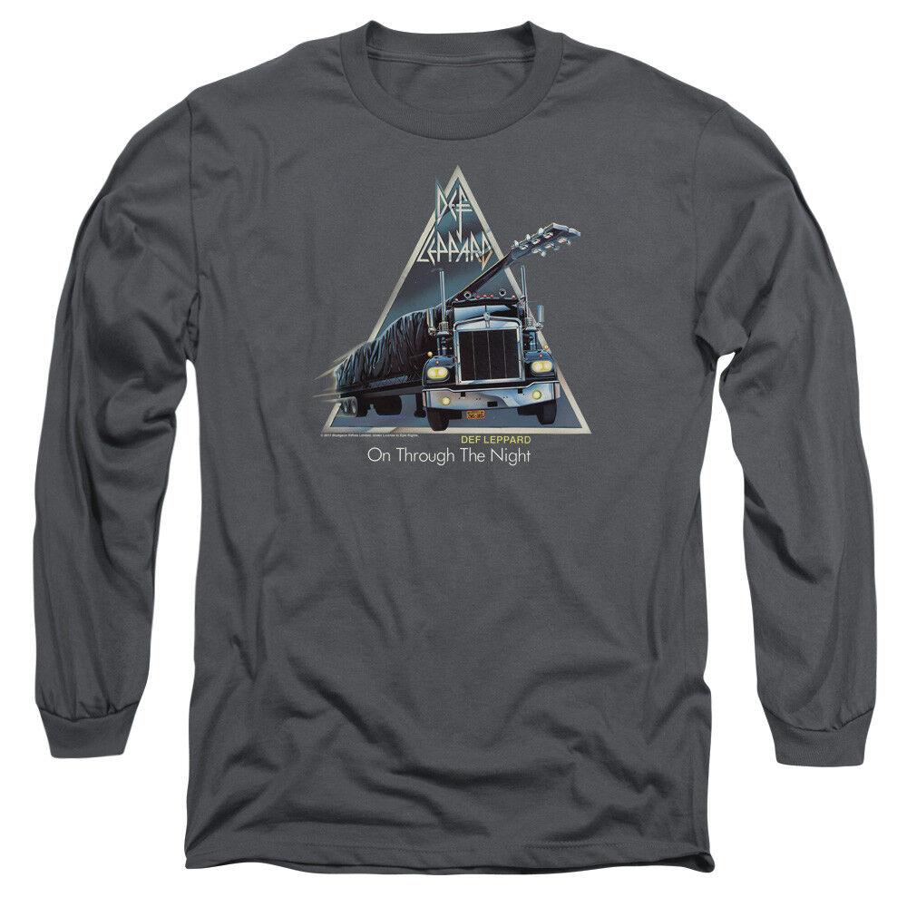 Def Leppard ON THROUGH THE NIGHT Album Art Adult Long Sleeve T-Shirt S-3XL