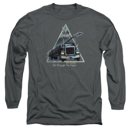 Def Leppard ON THROUGH THE NIGHT Album Art Adult Long Sleeve T-Shirt S-3XL