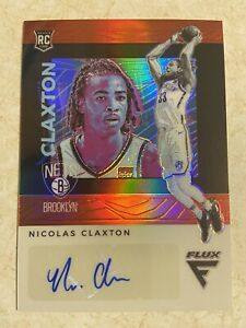 2019-20-Chronicles-NIC-CLAXTON-Flux-Pink-Prizm-Rookie-RC-Auto-New-Jersey-Nets