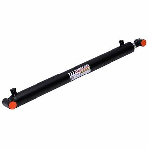 Hydraulic-Cylinder-Welded-Double-Acting-2-5-034-Bore-28-034-Stroke-Cross-Tube-2-5x28
