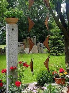 Gartendeko edelstahl edelrost windspiel fr hling sommer for Gartendeko fruhling