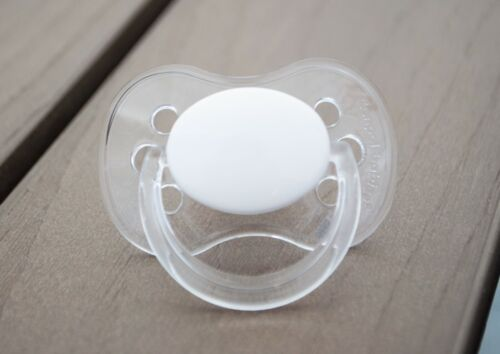 ALL TEATS,SIZES /& COLOURS P RABBIT PERSONALISED DUMMY PACIFIER SOOTHER
