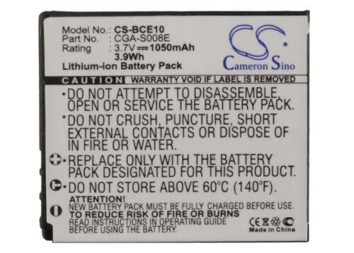 BATTERIA PREMIUM per Panasonic dmw-bce10pp sdr-s26k CGA-S008E sdr-s9eg-s NUOVO