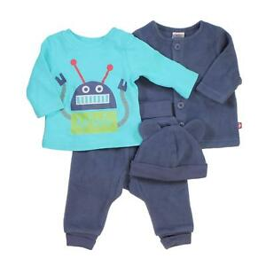 Zutano 4 Piece Set Long Sleeve Tee Pants Jacket and Hat for Baby Girls