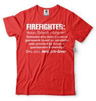 Firefighter T-shirt Gift For Firefighter Gift Ideas Firefighter Definition Shirt