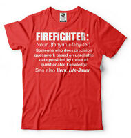 Firefighter T-shirt Gift For Firefighter Gift Ideas Firefighter Definition Shirt
