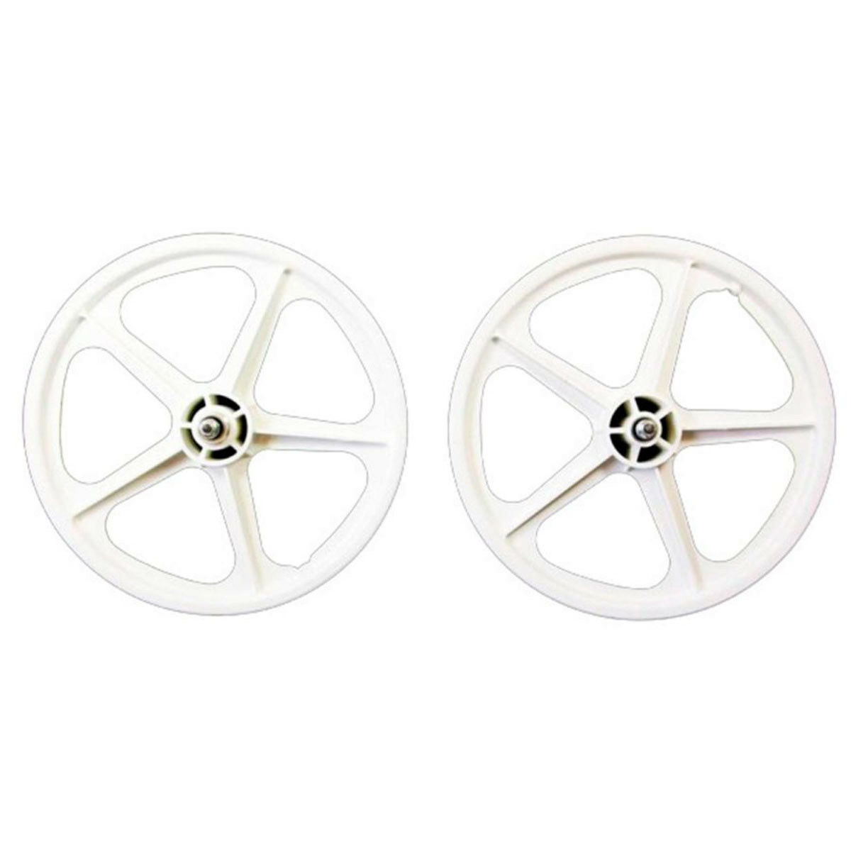 Skyway Tuff II Wheel Set - 16X1.75 3 8 Nutted Fw 5 Spoke - White - WHL-1801P