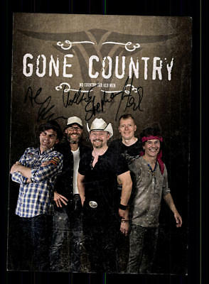 Neue Mode Gone Country Autogrammkarte Original Signiert ## Bc 122366 Sammeln & Seltenes Autogramme & Autographen