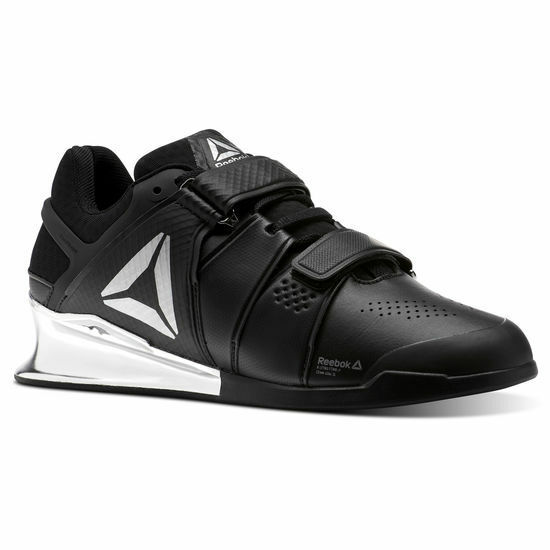 Reebok Legacy Lifter Men Weightlifting Training Gym shoes Black Silver CN1002