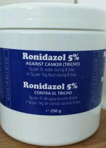 Ronidazole 5% 250g Canker Trichomoniasis, Hexamatiasis, and Giardia. Big Tube