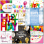 thumbnail 7 - Doodlecards Pack of 10 Square Contempory Mixed Birthday Cards
