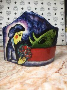 Jerusalem-Ceramic-MENORAH-by-ANATOLY-TUROV-Double-Sided-Signed-Very-Nice