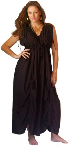 maxi dress caftan ruching drapes one size L XL 1X 2X 3X 4X 5X misses or plus