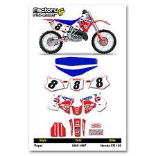 1995-1996 HONDA CR 250 Graphics Kit  Seat Cover Motocross Graphics Deco ppsi