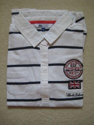 Ladies Ex Crew Clothing Company  Polo Shirt Top size 12-18 stripes GBR 93