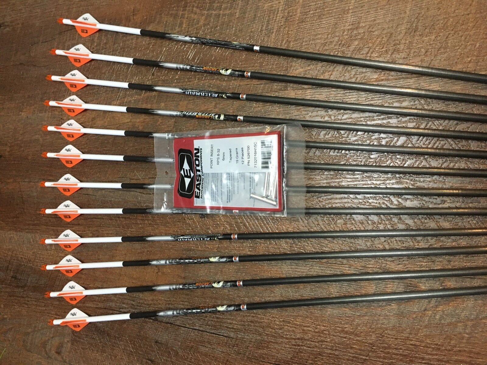500 Flechas Easton De Carbono secuelas con Blazer Paletas Personalizado Juego De 12