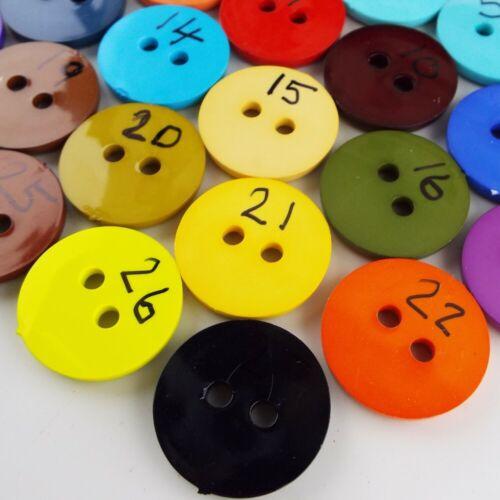 27 COLOUR 35mm Plastic Button Large Colour Clown Craft Big Rim BUY 2 4 8 16