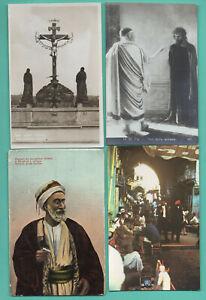 Judio-Synagogue-Lote-de-7-Vintage-Tarjeta-Postal-431