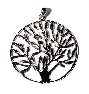 Grosser-Lebensbaum-Baum-des-Lebens-Anhaenger-925-Sterling-Silber-Tree-of-Life-Neu