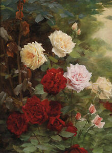 Huge-oil-painting-beautiful-still-life-nice-spring-peony-flowers-roses-24-034-x36-034