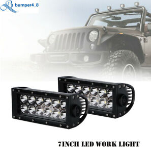 7inch 36W LED Work Light Bar Driving Lamp Fog Offroad ATV 4WD Boat Spot Flood