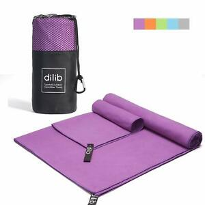 Microfiber Travel Towel Sets,2 Pack Quick Dry Sports Gym Beach Towels