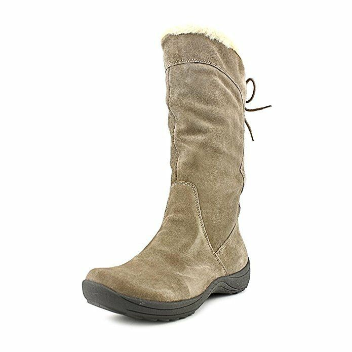 Naturalizer purplenne Womens Leather Fashion Mid-Calf Winter Boots, Taupe, 6.5M