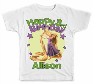 Image Is Loading Personalized Disney Rapunzel Birthday T Shirt