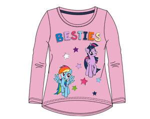 My-Little-Pony-Langarmshirt-Maedchen-Pullover-Gr-98-104-110-116-128-Rosa-Neu