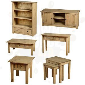 pine living room furniture coffee table tv stand nest of tables