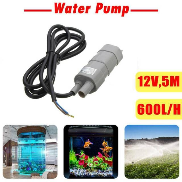 Useful 12V DC 1.2A Micro Submersible Motor Water Pump 14L/Min 600L/H 6-15V 5M