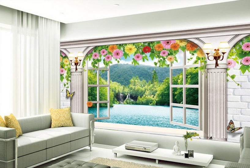 3D Mode Natur Stil 8554 Tapete Wandgemälde Tapete Tapeten Bild Familie DE Summer | Spaß  | Kunde zuerst  | Für Ihre Wahl