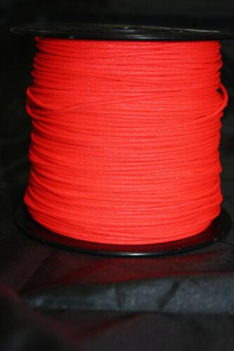 Neon Red BCY #24 D Loop Rope Release Material Sample 1/' 3/' 5/' 10/' 25/' 50/' 100/'