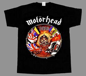 MOTORHEAD-Motorhead-1916-LEMMY-KILMISTER-NEW-BLACK-SHORT-LONG-SLEEVE-T-SHIRT