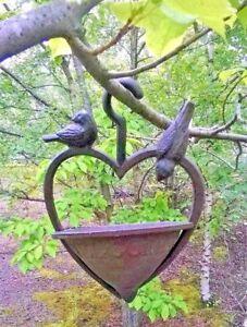 Vintage Fonte Oiseaux Sauvages Alimentation Station Jardin Eau