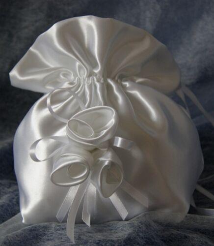 Beutel Tasche für Braut Kommunion Abendskleid Blümenkind Hochzeit Neu
