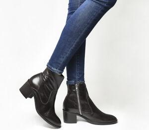 cioccolato da Stivali Boots Heel Albury color Block in pelle donna qzrdwqBF