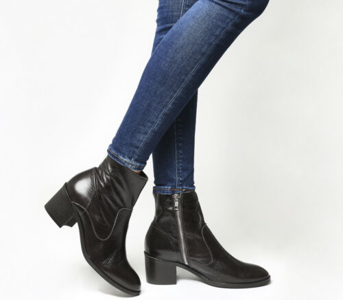 in pelle cioccolato Heel donna Albury Stivali color da Boots Block OAxqwYfP