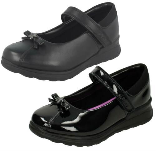 Girls Gloforms By Clarks Bow Trim School Shoes /'Mariel Wish Inf/'