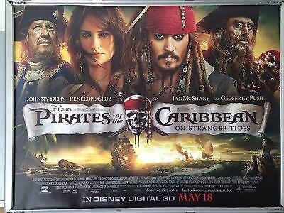 Cinema Poster Pirates Of The Caribbean On Stranger Tides 2011 Main Quad Ebay