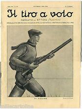 """RIVISTA """"IL TIRO A VOLO"""", ANNO VII, N. 16, FEB 1935, COPERTINA ILLUS. M. FUCCI m"""