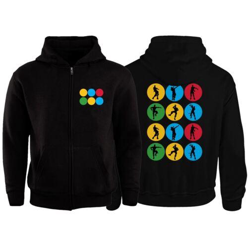Kids Dab Floss Dance Childrens Zip Up Hoodie Jacket Gamer Celebration Xmas Gift