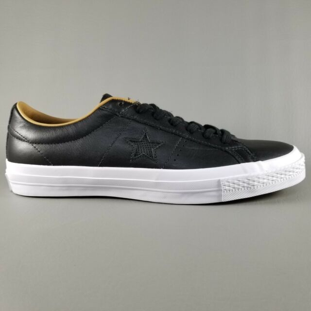 56420d6f2d7e Converse One Star Leather Ox Mens Size 10 Shoes SNEAKERS Black Sand Dune  White