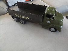 Rare jouet louis marx toy powerhouse grand camion vintage tôle US ARMY 49cm