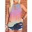 Women-Summer-O-Neck-T-Shirt-Leopard-Blouse-Casual-Beach-Tops-Sleeveless-Tank thumbnail 3