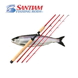 Santiam-Fishing-Rods-4-PC-7-039-6-034-4-10lb-Ultra-Light-Glass-Kokanee-Trout-Travel-Rod